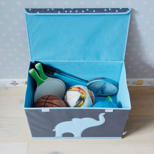 Store It 670384 Spielzeugtruhe, blauem, Polyester, Elefant - grau/hellblau, 62 x 37,5 x 39 cm - 6