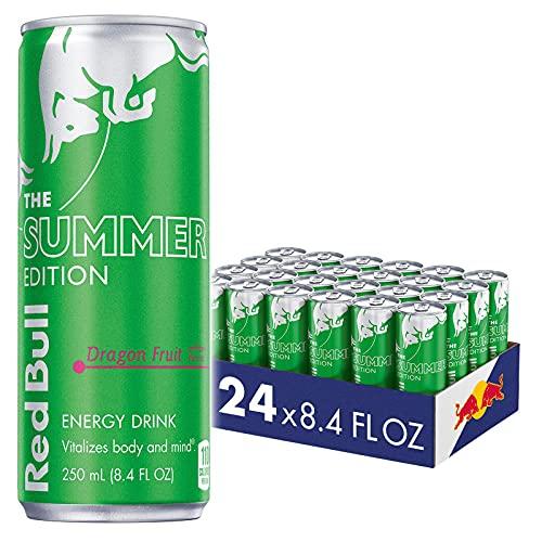 Red Bull Drink, Dragon Fruit, 8.4 Oz (24 Pack), 8.4 Fl Oz