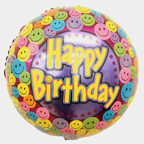 Suki Gifts S9114341 Ballon en aluminium Motif smileys Multicolore