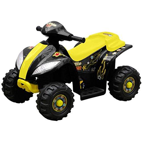 Luckyfu Mini moto quad elettrica per bambini, giallo e nero.macchina elettrica per bambini ruote macchina elettrica macchina elettrica per bambini con telecomando