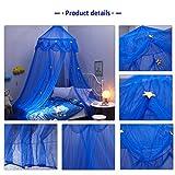 Baby Betthimmel Deko Baldachin Moskitonetz Kinder Prinzessin Spielzelte Dekoration für Kinderzimmer (Blau) - 4