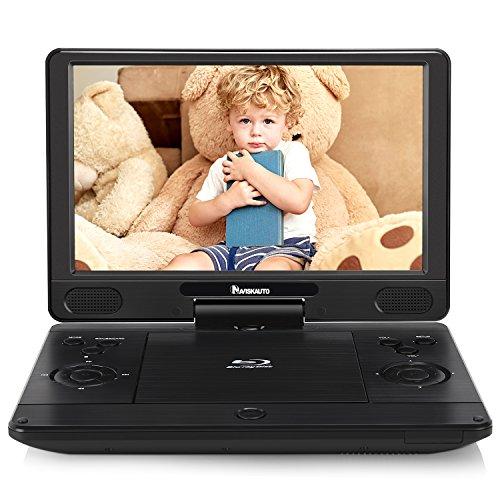 "NAVISKAUTO 12"" Blu-ray-Player Auto DVD Player Tragbarer Heimkino HDMI HD 1080P 1024x600 Akku.4000mAh USB SD bis 128GB"