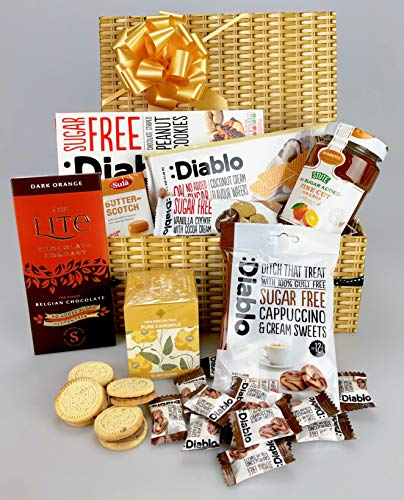 Deluxe Large Sugar Free Diabetic Gift Food Hamper Suitable for All Occasions - Fathers Day Birthday Get Well New Home New Job Mum Dad Grandma Grandad Grandpa Sister Brother Wife Son Daughter etc