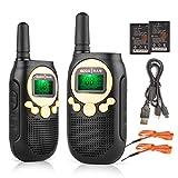 SOCOTRAN Walkie Talkies Niños Recargable PMR446 Radio para Niños y Niñas con Cargador y baterías Recargables y Regalos para Exteriores 0.5W 8CH LED VOX PTT Código de Privacidad Radio