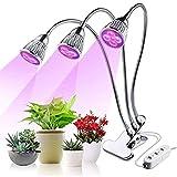 LMDG Grow Light, versión Mejorada LED Plant Grow Lights for Plantas de Interior Cuello de Cisne Ajustable