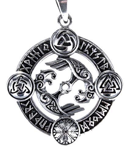 Raven Pendant 925 Sterling Silver No. 393