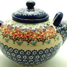 Polish Pottery - The 3 Liter Teapot - Stellar Celebration - The Polish Pottery Outlet