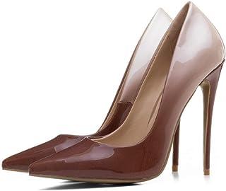 8f792cb1033 JRSHODA Zapatos De Tacón Ultra Morado para Mujer Más El Tamaño 33-43 Bombas  De