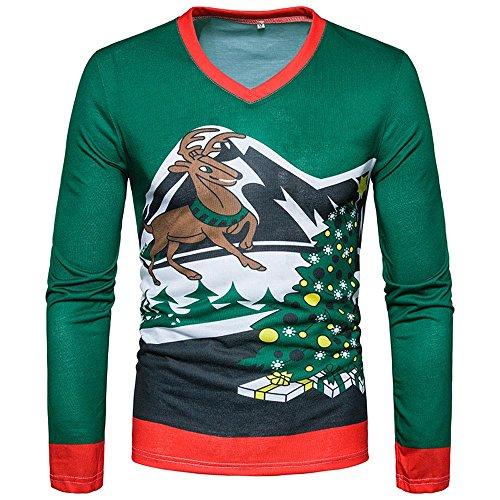 FRAUIT Kerstmis pullover heren trui gebreide trui hoodie basic ronde hals Crew Neck sweatshirt lange mouwen sweater