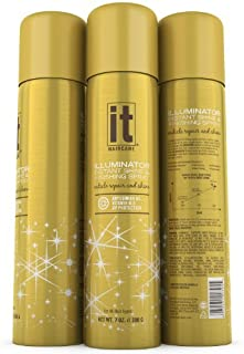 IT Illuminator Instant Shine Spray by IT Hair Care, Amazing Cuticle Repair Through State Of The Art ECV151 Complex, Abyssinian Oil, Vitamin B-5, Ultimate Shine & UV Protection, Revives Damaged Hair Including Breakage and Split Ends 7 Ounce Can