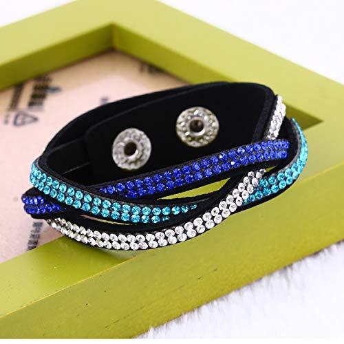 CNSP VIVIZEY Europe Multi Row Velvet Crystal Bracelet Leather Chakra Bracelet For Women Birthday Gifts Pulseras Hombre Big Promotion 1 Week