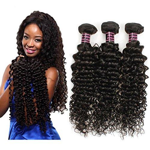 Extensions de Cheveux 3pcs Vague Extensions de cheveux humains profondes brésiliennes 8-28 pouces Non Transformé brésilienne vague profonde 3Bundles 300g / lot brésilienne Virgin Hair Top Selling , 18 20 22