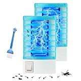Michael Doss Bug Zapper, 2 Pack Electric Bug Zapper, Powerful Mosquito Killer, Fly Zapper with Blue Light, Mosquito Trap for Backyard, Patio, Bedroom, Kitchen
