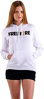 Moletom Blusa Branca Só Frente Free Fire Game Unissex
