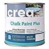 Pintura a la Tiza – Chalk Paint – Pinturas para decoración, restauración de muebles, madera – Pintura efecto Tiza (500ml) (Gris Cálido)