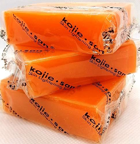 Kojie San Skin Whitening Lightening Bleaching Kojisäureseife mit Glycerin US SHIP von Kojie San 2 + 1 kostenlos (3x65gram)