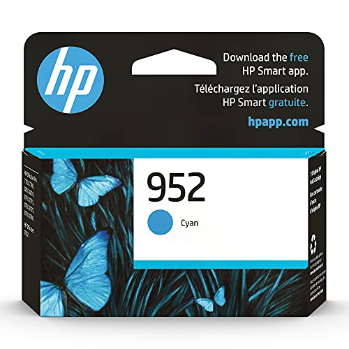 Original HP 952 Cyan Ink Cartridge | Works with HP OfficeJet 8702, HP OfficeJet Pro 7720, 7740, 8210, 8710, 8720, 8730, 8740 Series | Eligible for Instant Ink | L0S49AN
