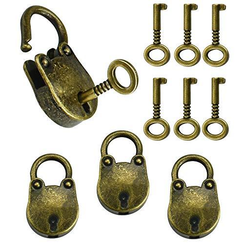 SSPECOTNR - Lucchetto a forma di orso, in ottone vintage, con lucchetto in lega di zinco, con 6 chiavi, per armadietti, valigie, gioielli, diario e bagagli, borse sportive, armadietti