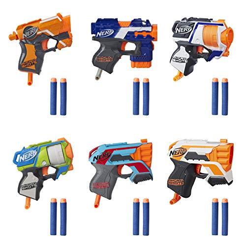NERF MicroShots 6-Blaster Bundle -- 6 Mini Dart-Firing Elite Blasters and 12 Official Elite Darts --...