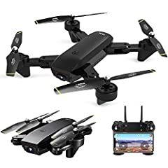 FUNCTIONS: Sideward flight, turn left/right, up/down, forward/backward, optical flow positioning, altitude hold, one key take off/landing, 3D flip, WiFi FPV, way-point fly, headless mode, one key return, gesture control, follow me, palm manipulation,...