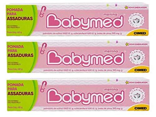 Pomada Babymed Assadura Bebê Pele Delicada Kit C/3 Menina