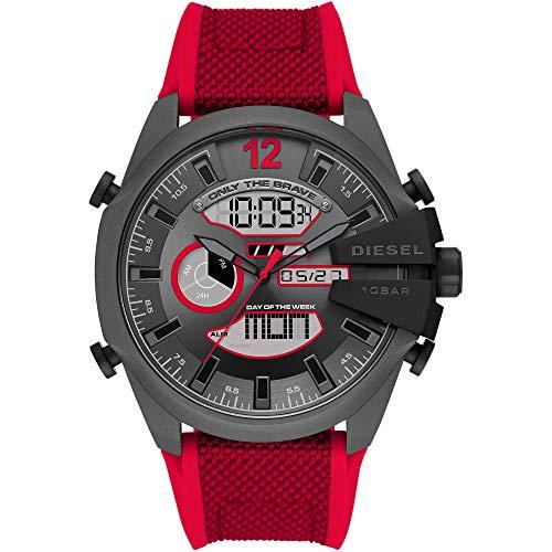 Diesel Reloj Analógico para de los Hombres de Digital con Correa en Nailon DZ4551