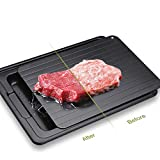 LHOTSE Defrosting Tray,Cutting Board Function,Quicker Safer Way to Defrost Meat Pork Beef Fish,with drip Tray,Thawing Plate Dishwasher Safe,No Microwave