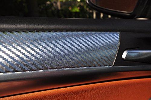 12 tlg. Carbon Chrom Interieurleisten 3D Folien SET 100µm stark, Türleisten, Mittelkonsole, Aschenbecher passend für Ihr Fahrzeug