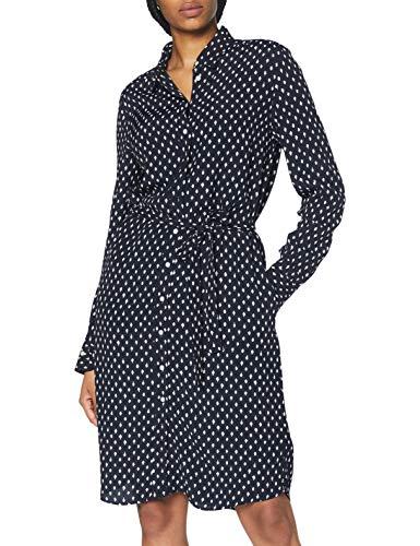 GANT Damen D1. Desert Jewel Print Shirt Dress Kleid, Evening Blue, 36