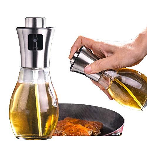 Pulverizador de aceite de oliva para cocinar, 200 ml para barbacoa, pulverizador de cristal para parrilla, aceite, vinagre, aceite vegetal, aceite de sésamo, aceite de canola, 1 paquete