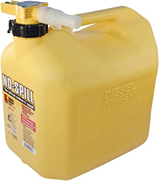 No Spill 1457 Diesel Fuel Can, Yellow, 1 Pack: image