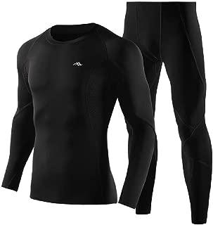 MogogoMen Long-Sleeve Tights Fitness Compression Sport Sweat Suit Set