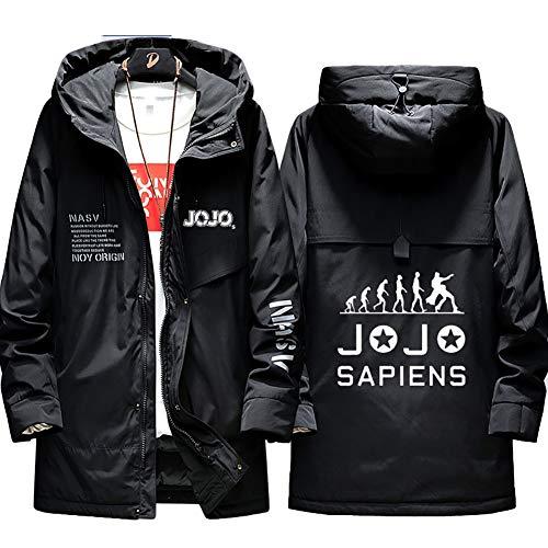 Herren Warme Winterjacke JoJo's Bizarre Adventure Kujo Jotaro 'I am not a humanbeing' Jacke Kapuzen Full Zip Coat Hoodie Komfortable Übergangsjacke Sweatshirt Jacken (No Shirt),black1,2XL(180-185cm)