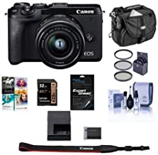 $999 » Canon EOS M6 Mark II Mirrorless Camera with EF-M 15-45mm is STM Lens and EVF-DC2 Viewfinder Black - Bundle w/ 32GB SDHC Card, 49mm Filter Kit, Camera Case, Cleaning Kit, Screen Protector, PC Software
