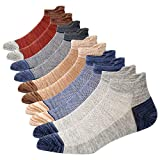 5 Pairs Mens Athletic Breathable Ankle Socks Low Cut Non-slid Socks Cotton Mesh Top Fresh Ventilation Socks