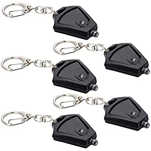 Finware 3 Pack Micro Light Keychain Mini Flashlight, Ultra Bright Key Ring Light Torch, Dog Light, Safety Light