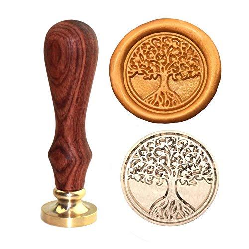 Arts & Crafts Siegelstempel, Cyleibe Wax Stamp Sealing Stamp Leben ist Baum Siegelstempel zum Verschönern von Umschlägen, Weinverpackungen, Geschenkverpackungen