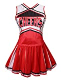 Colorful House Womens Cheerleader Costume Uniform Fancy Dress (Size M, Red)