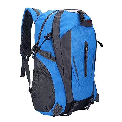 Hancend Blue 40L Waterproof Backpack Outdoor Sports Climbing Rock Climbing Camping Hiking Shoulder Bag(蓝色)
