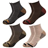 Timberland Men's 4 Pack Comfort Low Quarter Socks (Multicolored Tan, One Size)