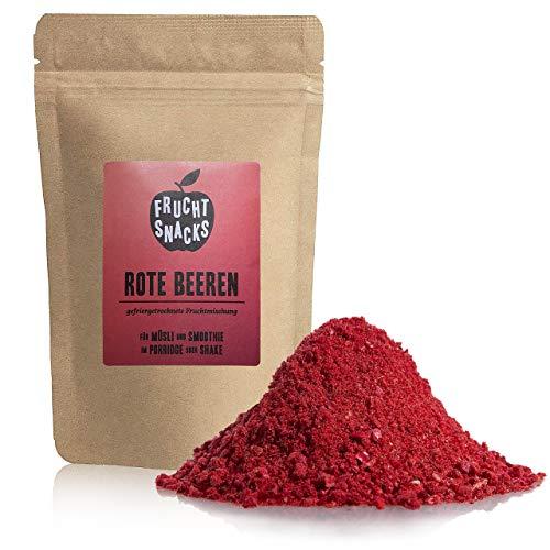 Rote Beeren Fruchtpulver – 100% Rote Beeren pulver gefriergetrocknet und gemahlen, Rote Beeren Pulver vegan und ohne Zucker Zusatz, 100g