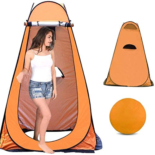 HEG Shower Tent Pop Up Toilet Tent Camping Toilet Tent Changing Room Rain Shelter With Window With Carrying Bag, Portable Outdoor Camping Sun Shelter Camp Toilet Changing Dressing Room Tents