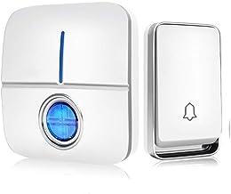 Deurbel Waterdichte draadloze deurbel vereist geen batterij Remote Deurbel 36 Ringtones 3 Niveau volume en rinkelen Knippe...