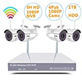 YXMN Home Wireless Security Camera System H.265+ NVR Surveillance Package