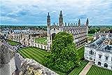 N\A Puzzle Jigsaw Rompecabezas De 500 Piezas para Adultos DIY England Houses King 'S College Cambridge Lawn Rompecabezas para Niño Amigo