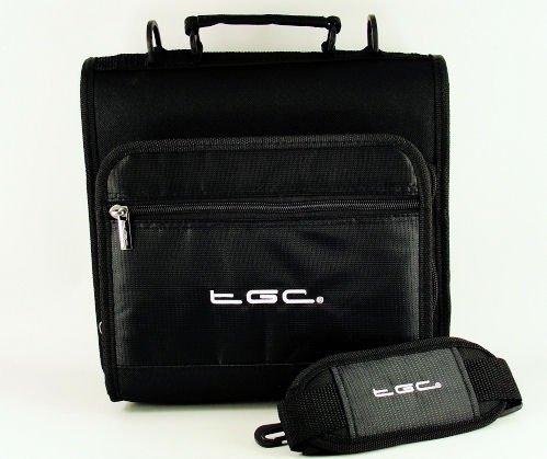 Nieuwe schoudertas voor de Philips PET1002 draagbare DVD-speler van TGC ®, Jet Zwart