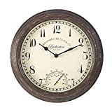 Smart Garden Products 5060000 Reloj bickerton wall clock 12', blanco, 30.5x30.5x5 cm