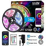 Striscia LED IP65, Smart 5m WiFi RGB Impermeabile SMD, Compatibile con Alexa e Google Assistant, App...