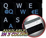 German - English Notebook Non-Transparent Black Keyboard Stickers