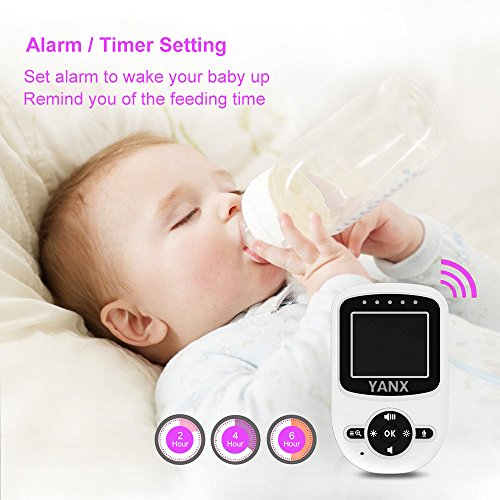 YANX Babyphone Vidéo 2.4' HD Moniteur Numérique pour Bébé Caméra Bébé Sans fil avec Batterie...